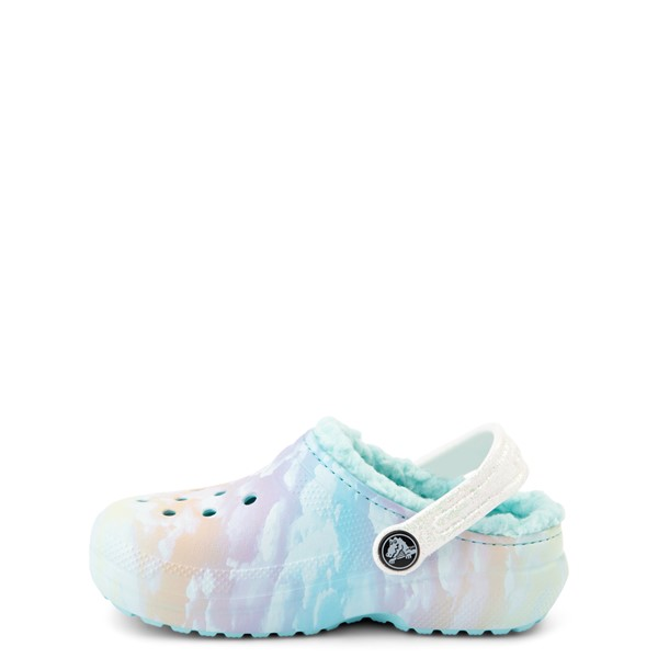 alternate view Crocs Classic Fuzz-Lined Out Of This World Clog - Baby / Toddler / Little Kid - Tie Dye SkyALT1