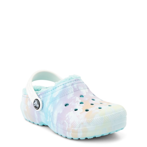 alternate view Crocs Classic Fuzz-Lined Out Of This World Clog - Baby / Toddler / Little Kid - Tie Dye SkyALT5