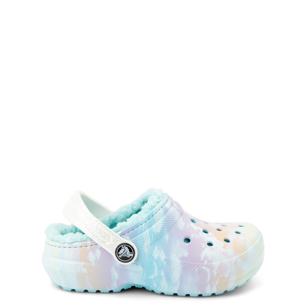 Crocs Classic Fuzz-Lined Out Of This World Clog - Baby / Toddler / Little Kid - Tie Dye Sky