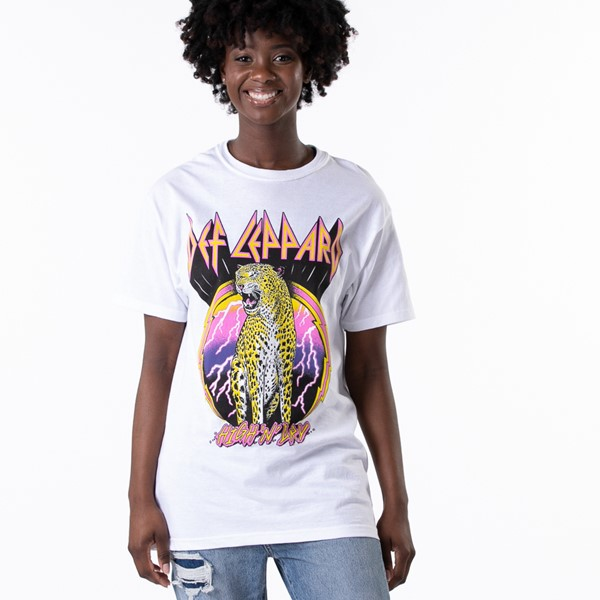 Womens Def Leppard High 'n' Dry Boyfriend Tee - White