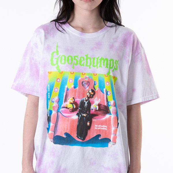 Main view of Womens Goosebumps Boyfriend Tee - Pink Tie Dye