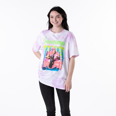 Alternate view of Womens Goosebumps Boyfriend Tee - Pink Tie Dye