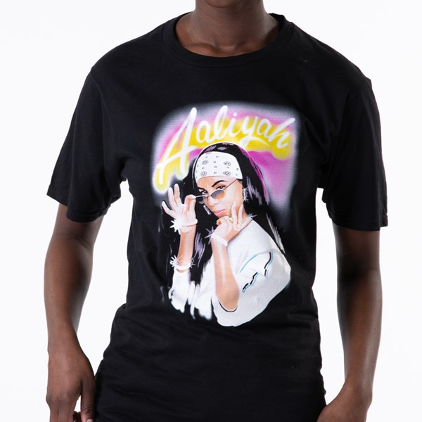Main view of Womens Aaliyah Boyfriend Tee - Black