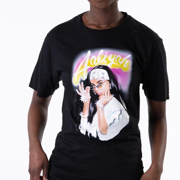 alternate view Womens Aaliyah Boyfriend Tee - BlackALT1B