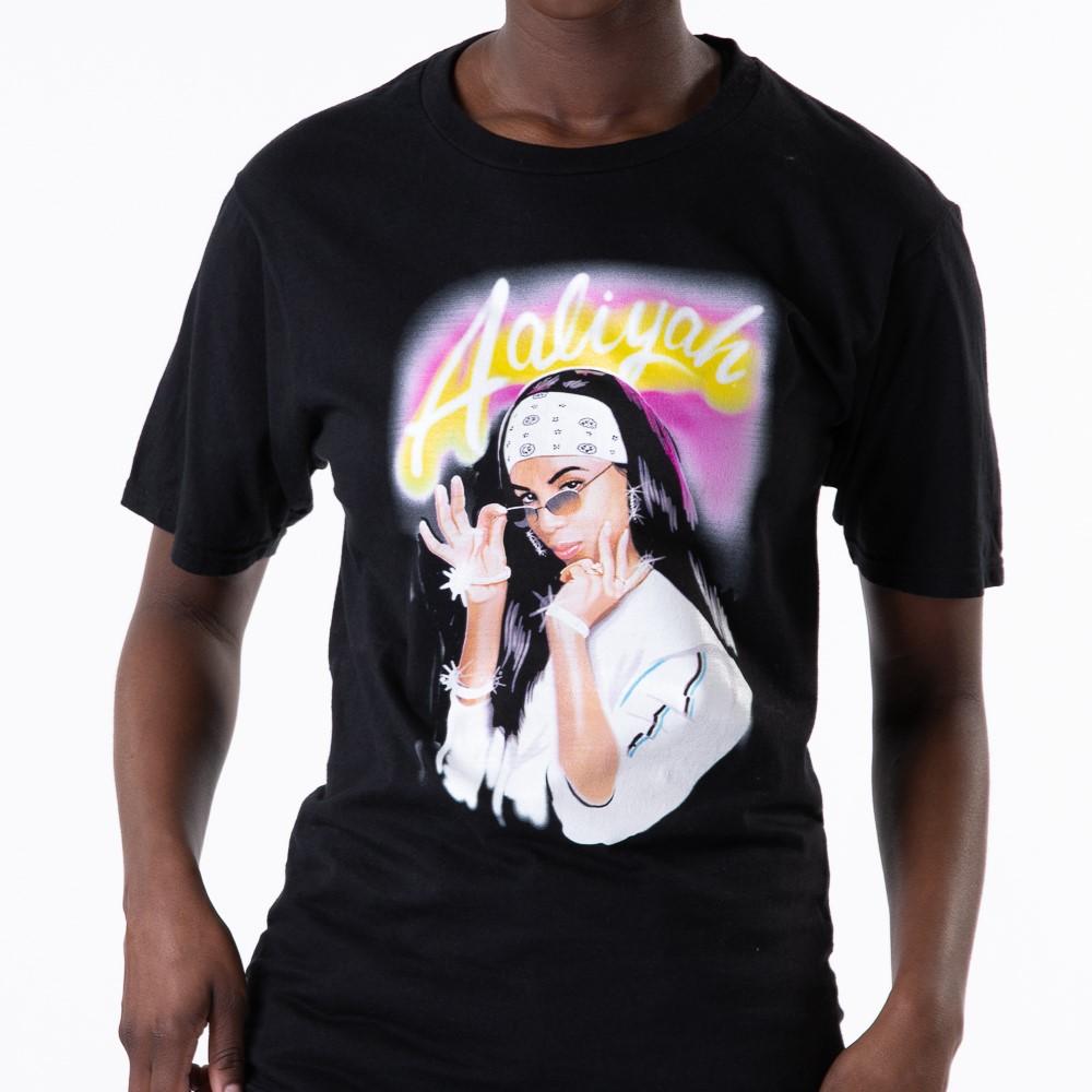 Womens Aaliyah Boyfriend Tee - Black