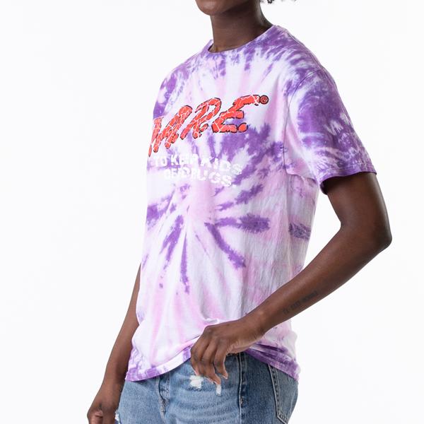 alternate view Womens Dare Logo Boyfriend Tee - Purple Tie DyeALT1