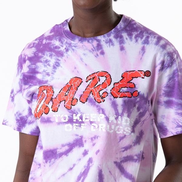 alternate view Womens Dare Logo Boyfriend Tee - Purple Tie DyeALT1B