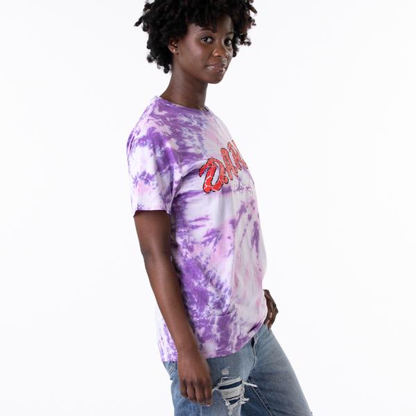 alternate view Womens Dare Logo Boyfriend Tee - Purple Tie DyeALT3
