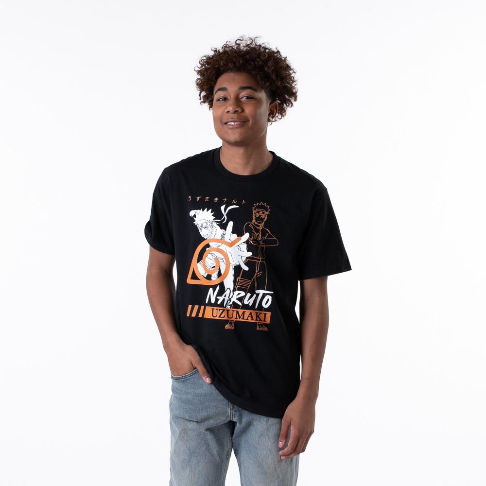 Mens Naruto Uzumaki Tee - Black