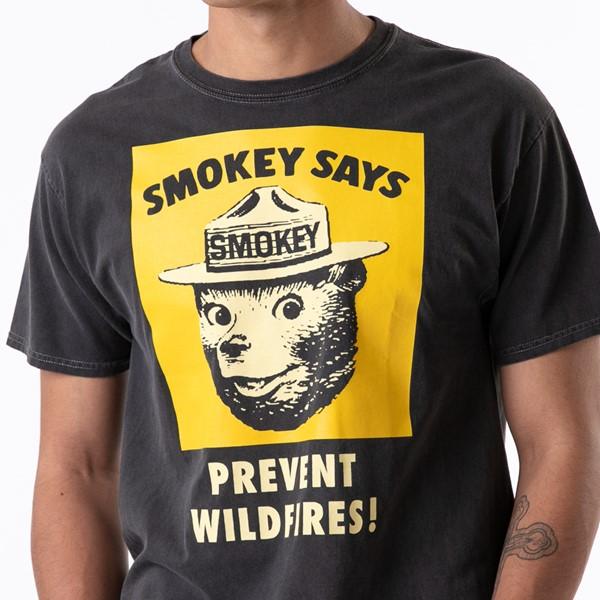 alternate view Mens Smokey The Bear Tee - BlackALT1B