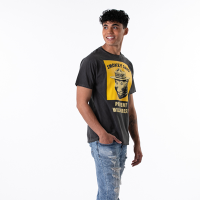Alternate view of Mens Smokey The Bear Tee - Black