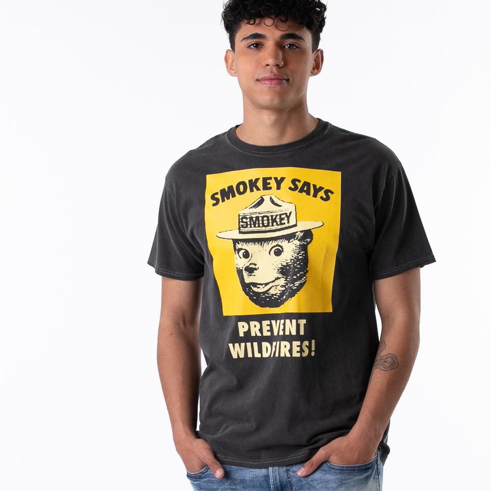 Mens Smokey The Bear Tee - Black