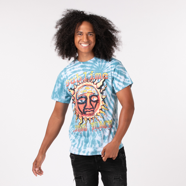 Mens Sublime Tee - Blue Tie Dye