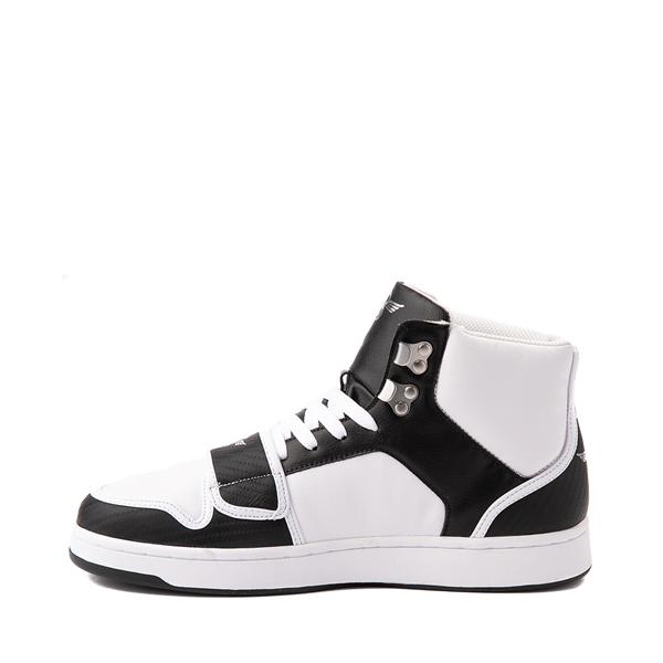 alternate view Mens Creative Recreation Cesario Hi XXI Sneaker - White / BlackALT1