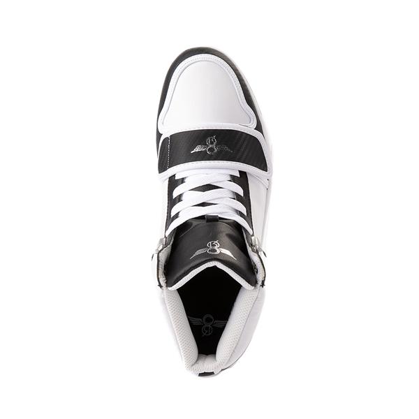 alternate view Mens Creative Recreation Cesario Hi XXI Sneaker - White / BlackALT2