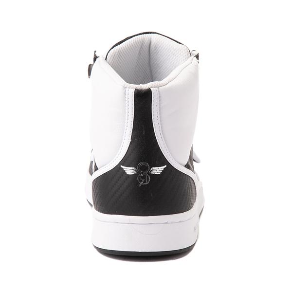 alternate view Mens Creative Recreation Cesario Hi XXI Sneaker - White / BlackALT4