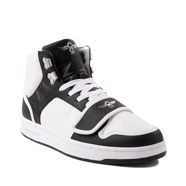 alternate view Mens Creative Recreation Cesario Hi XXI Sneaker - White / BlackALT5