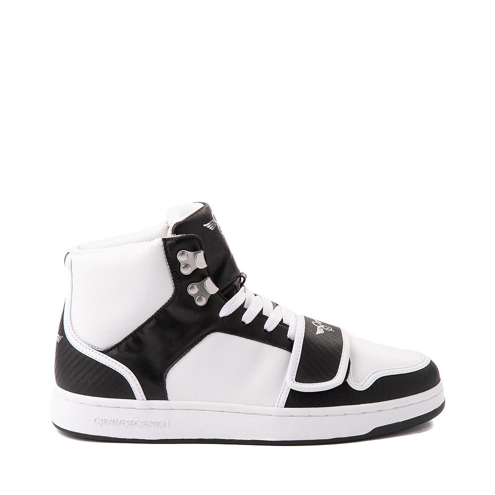 Mens Creative Recreation Cesario Hi XXI Sneaker - White / Black