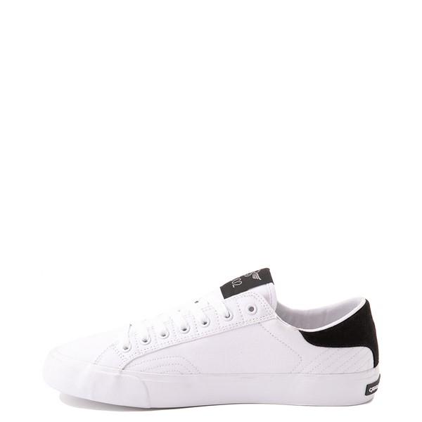 alternate view Mens Creative Recreation Zeus Lo Sneaker - White / BlackALT1