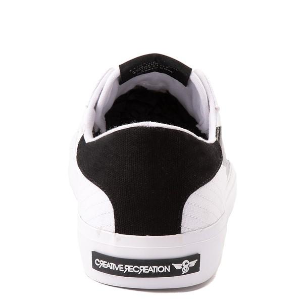 alternate view Mens Creative Recreation Zeus Lo Sneaker - White / BlackALT4