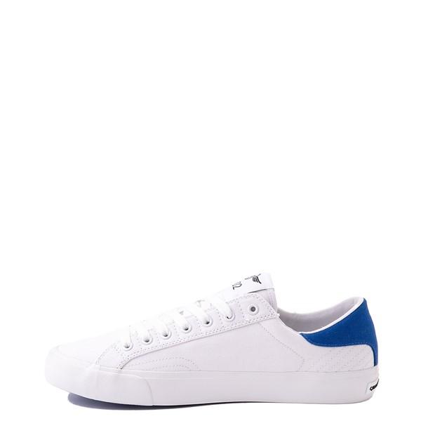 alternate view Mens Creative Recreation Zeus Lo Sneaker - White / BlueALT1