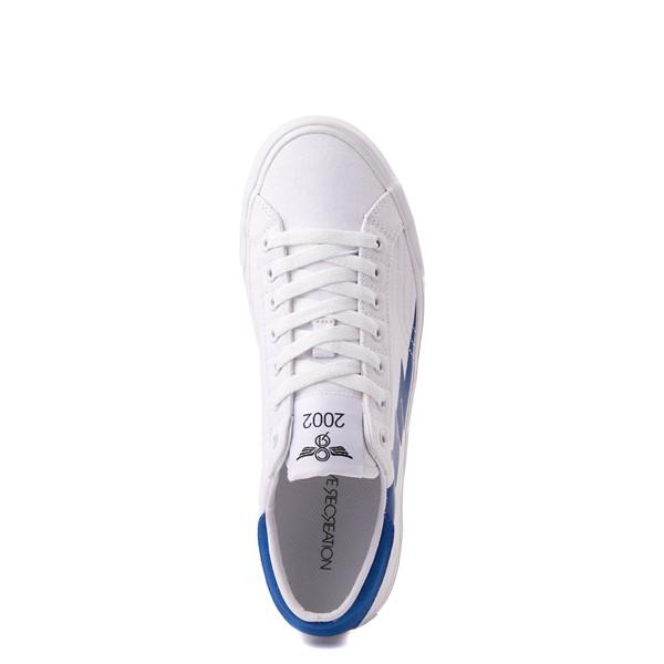 alternate view Mens Creative Recreation Zeus Lo Sneaker - White / BlueALT2