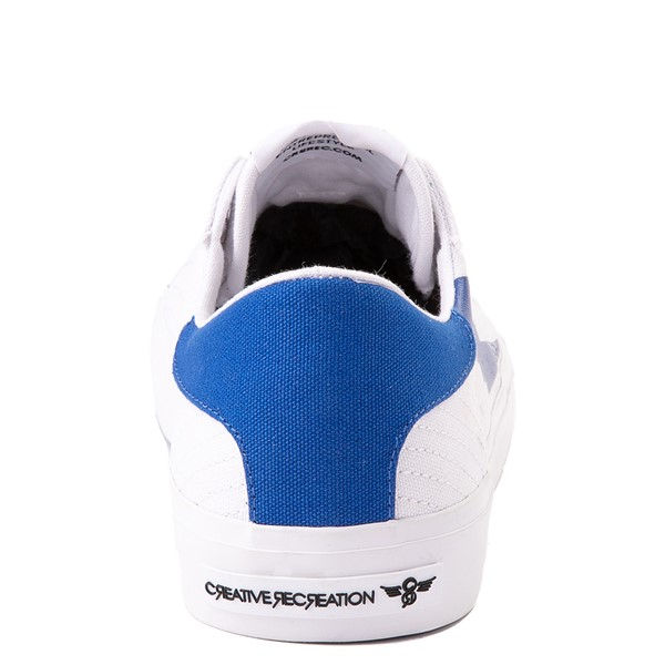 alternate view Mens Creative Recreation Zeus Lo Sneaker - White / BlueALT4
