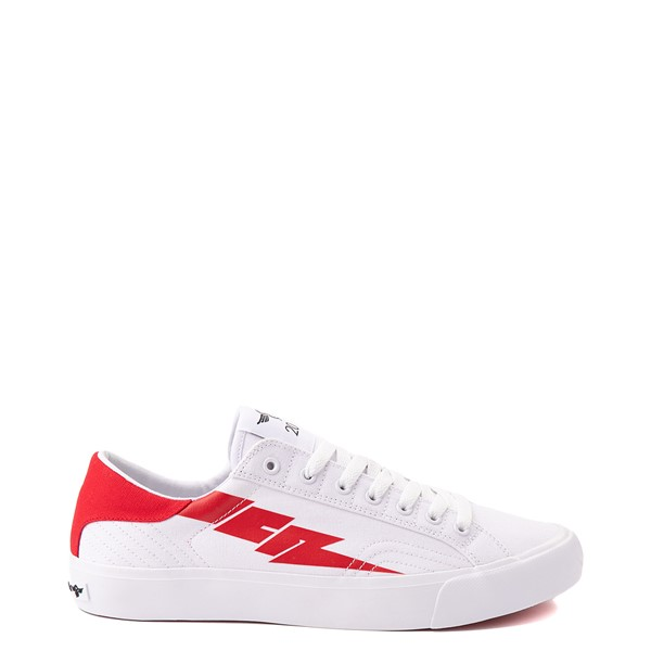 Main view of Mens Creative Recreation Zeus Lo Sneaker - White / Red