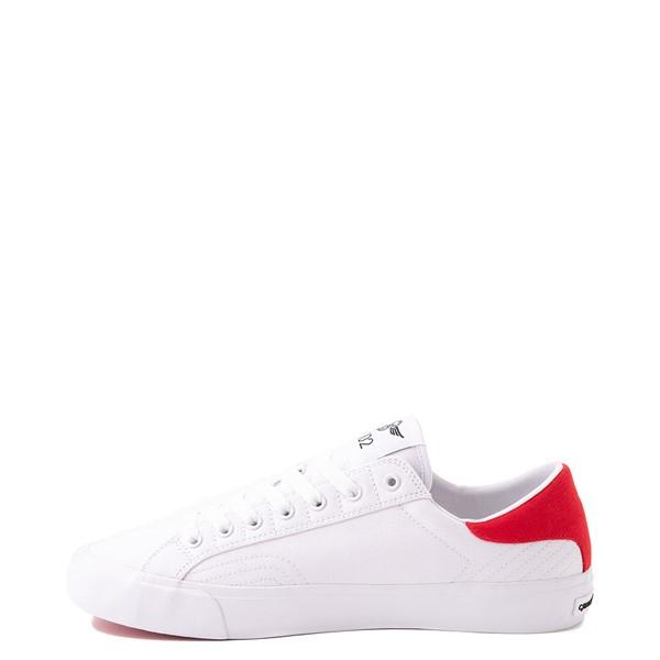 alternate view Mens Creative Recreation Zeus Lo Sneaker - White / RedALT1
