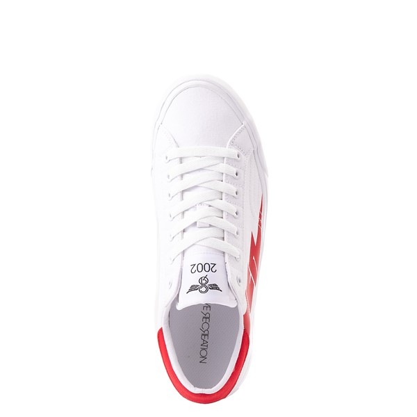 alternate view Mens Creative Recreation Zeus Lo Sneaker - White / RedALT2