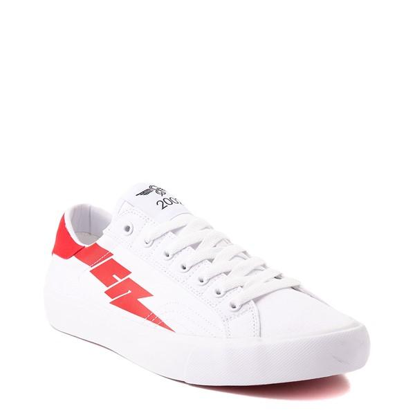 alternate view Mens Creative Recreation Zeus Lo Sneaker - White / RedALT5