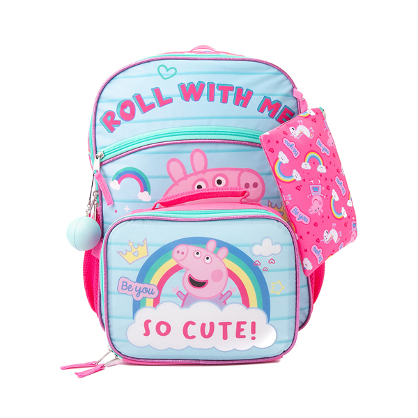 Main view of Peppa Pig Backpack Set - Pink / Blue