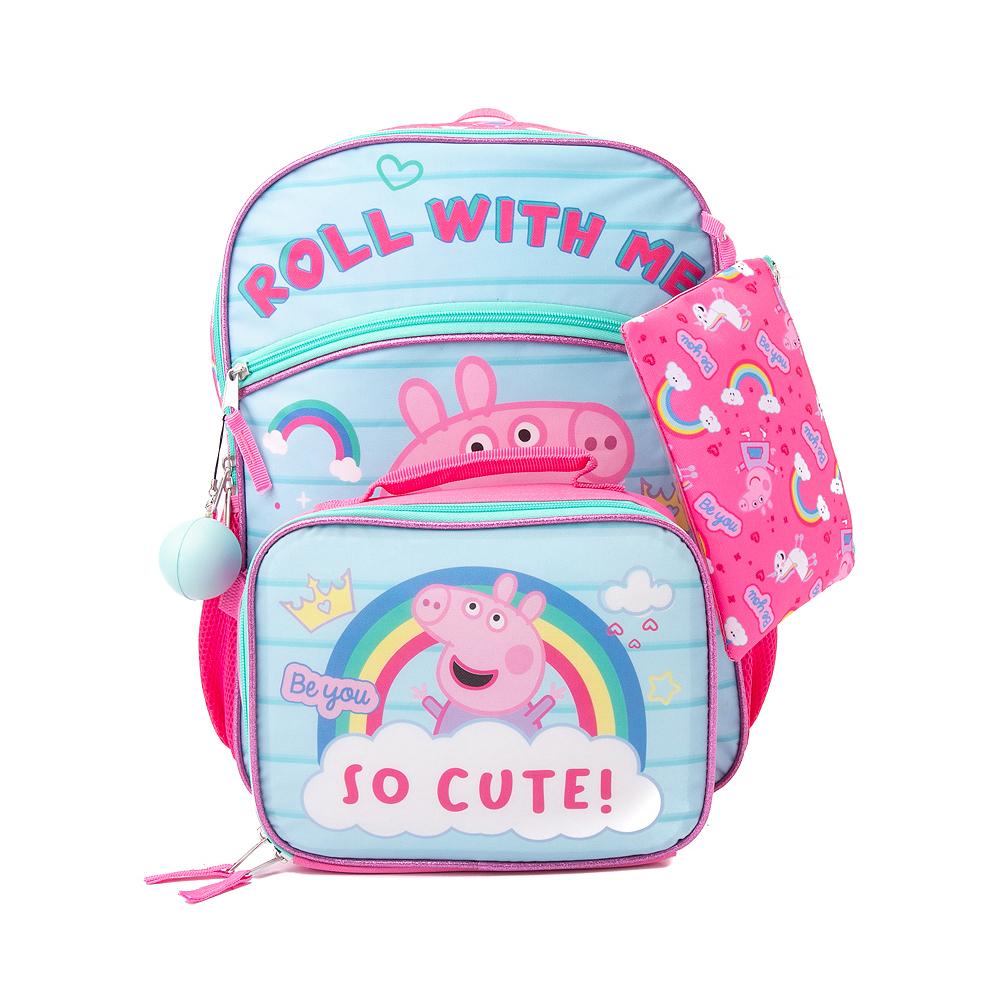 Peppa Pig Backpack Set - Pink / Blue