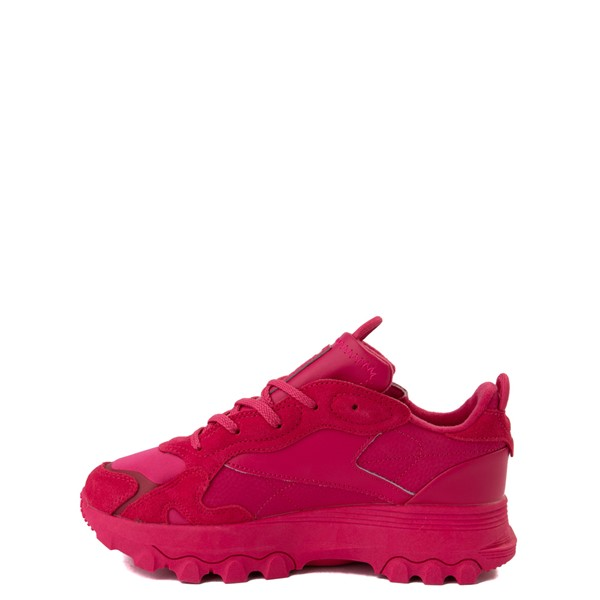 alternate view Reebok x Cardi B Classic Leather Athletic Shoe - Big Kid - Semi Pursuit PinkALT1