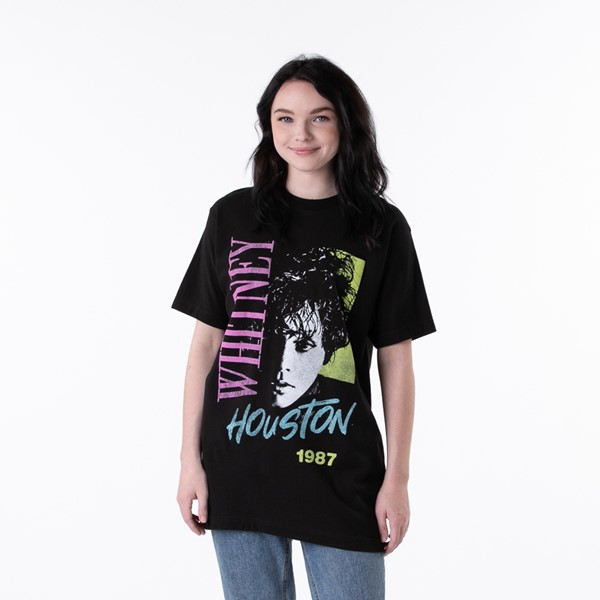 Womens Whitney Houston 1987 Portrait Tee - Black