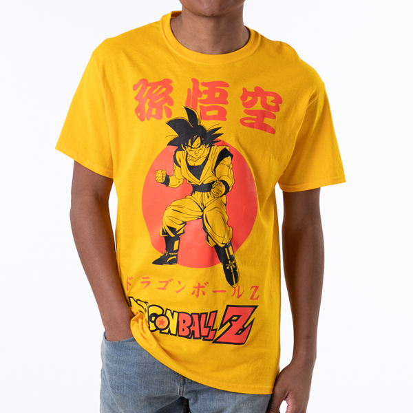 Mens Dragon Ball Z Goku Tee - Gold