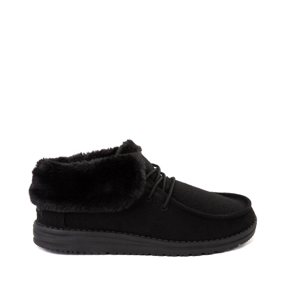 Womens Hey Dude Britt Casual Shoe - Total Black