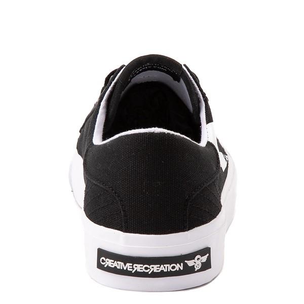 alternate view Womens Creative Recreation Zeus Lo Sneaker - Black / WhiteALT4