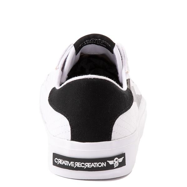 alternate view Womens Creative Recreation Zeus Lo Sneaker - White / BlackALT4
