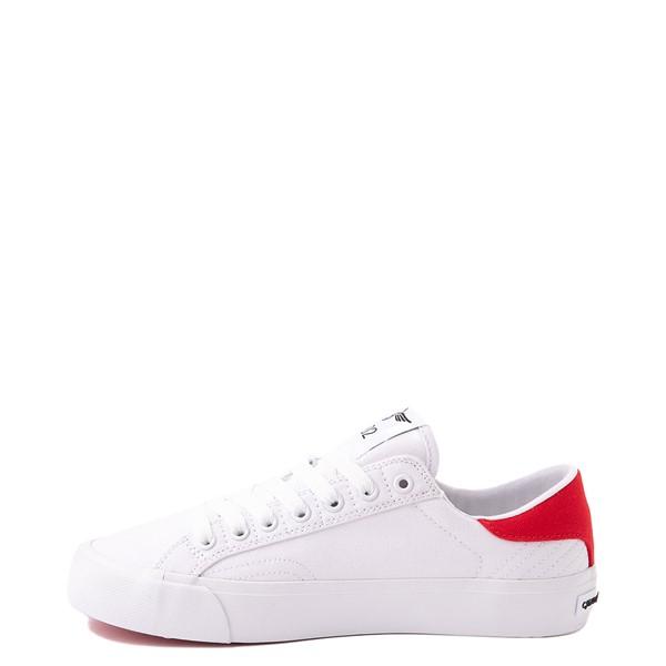 alternate view Womens Creative Recreation Zeus Lo Sneaker - White / RedALT1