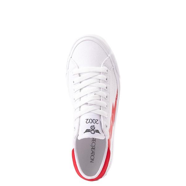 alternate view Womens Creative Recreation Zeus Lo Sneaker - White / RedALT2