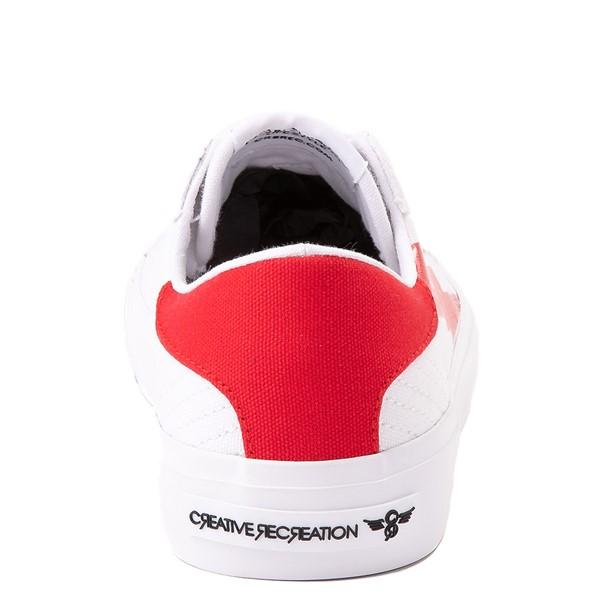 alternate view Womens Creative Recreation Zeus Lo Sneaker - White / RedALT4