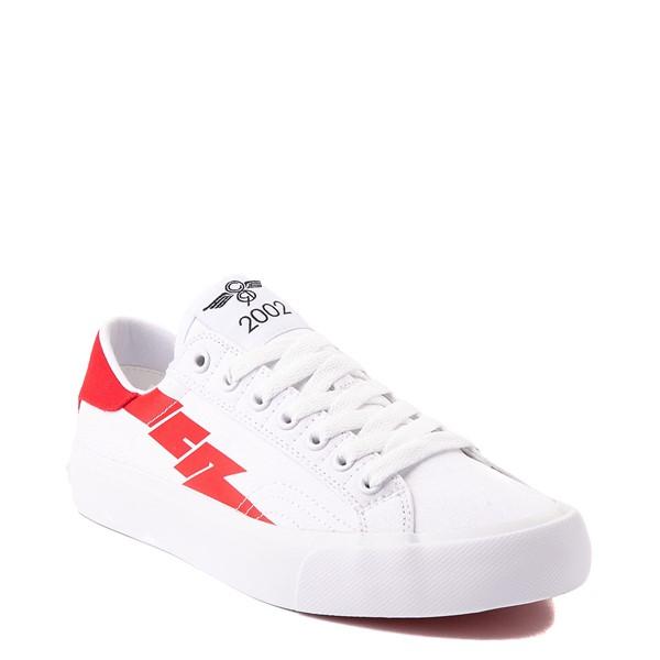 alternate view Womens Creative Recreation Zeus Lo Sneaker - White / RedALT5