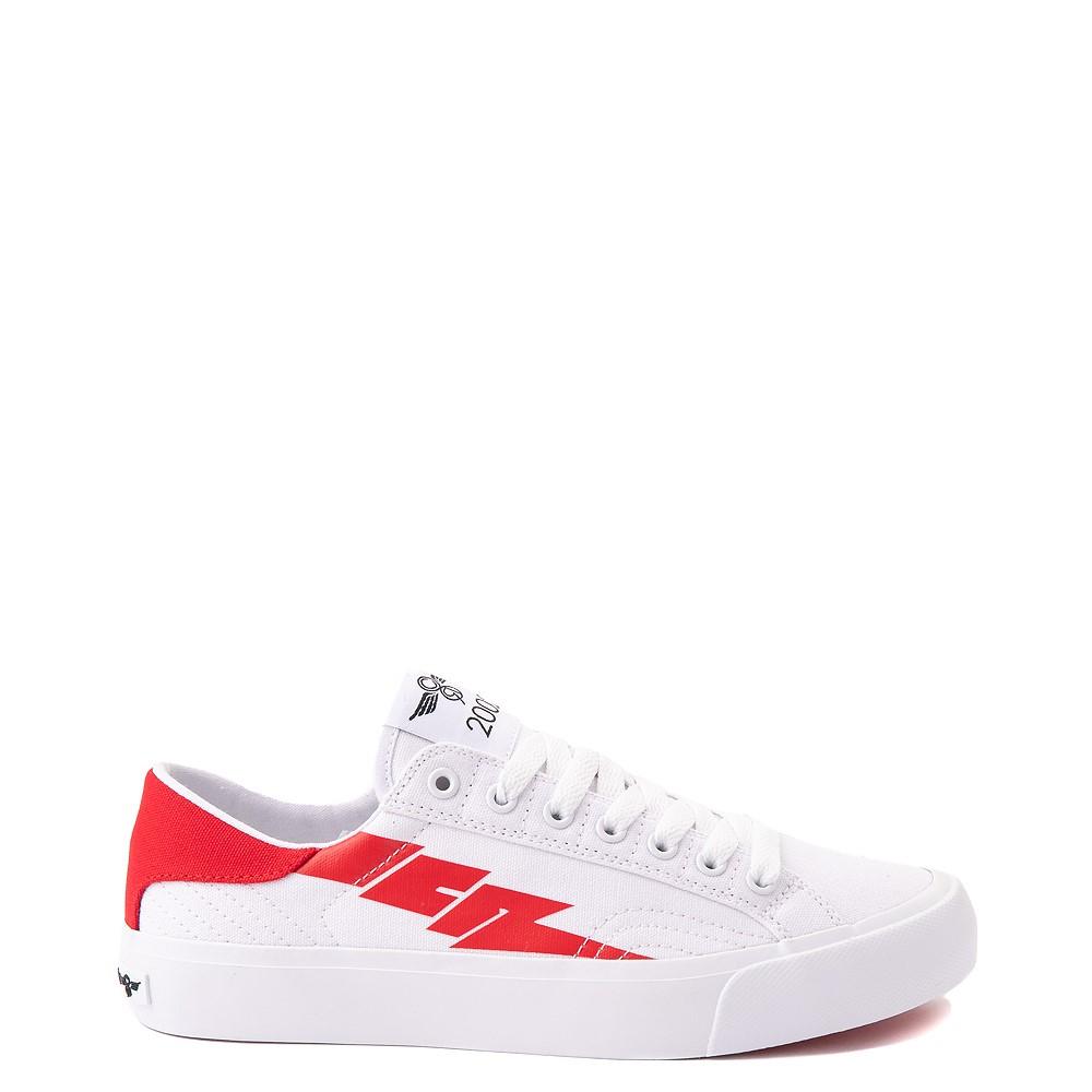 Womens Creative Recreation Zeus Lo Sneaker - White / Red