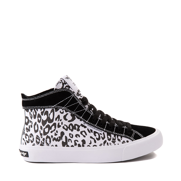 Main view of Womens Creative Recreation Helious Hi Sneaker - Black / White Leopard