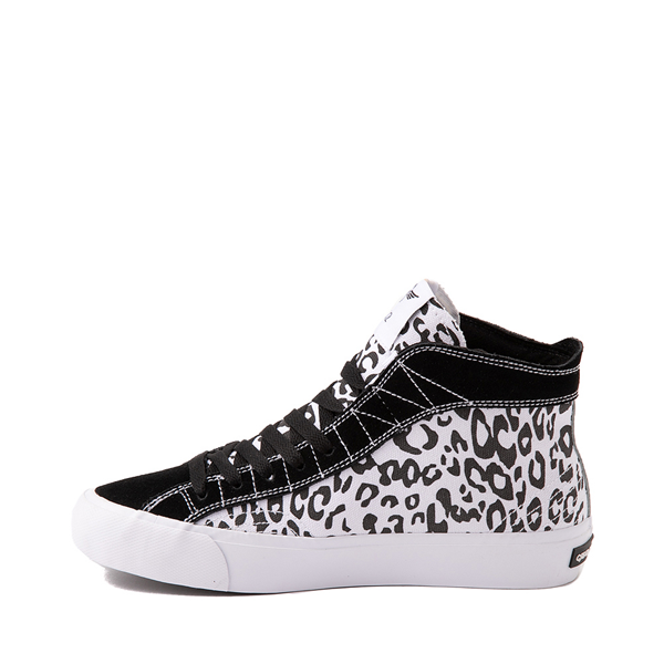 alternate view Womens Creative Recreation Helious Hi Sneaker - Black / White LeopardALT1