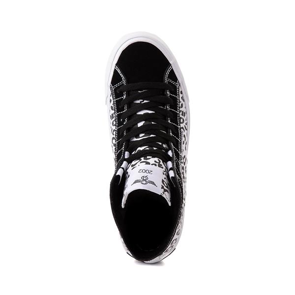 alternate view Womens Creative Recreation Helious Hi Sneaker - Black / White LeopardALT2