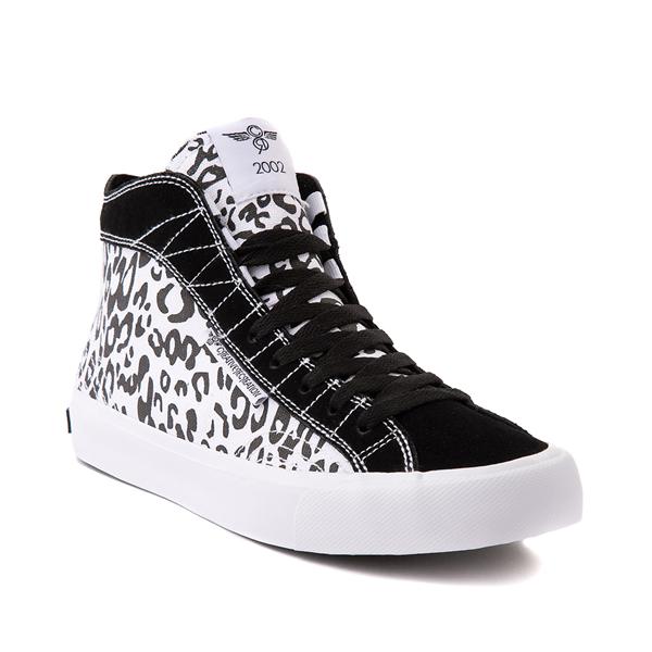 alternate view Womens Creative Recreation Helious Hi Sneaker - Black / White LeopardALT5