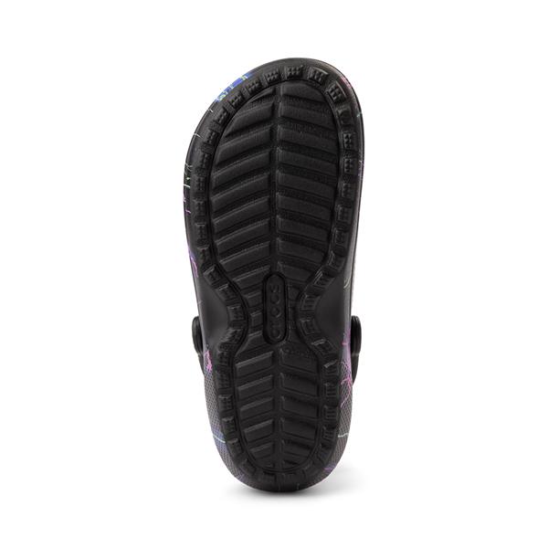 alternate view Crocs Classic Fuzz-Lined Clog - Black / LightningALT3