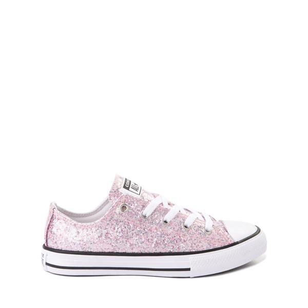 Converse Chuck Taylor All Star Lo Glitter Sneaker - Little Kid / Big Kid - Pink Foam